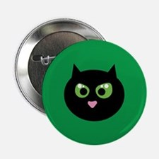 "Angry Black Cat 2.25"" Button"