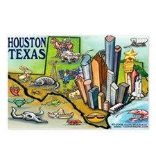 Cute Tx Postcards (Package of 8)
