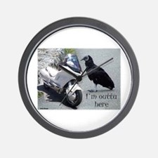 I'm Outta Here Wall Clock