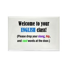 WELCOME to ENGLISH Please Lea Rectangle Magnet
