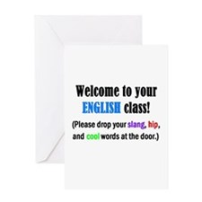 WELCOME to ENGLISH Please Lea Greeting Card