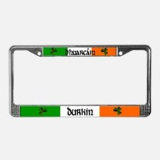Durkin in Irish & English License Plate Frame