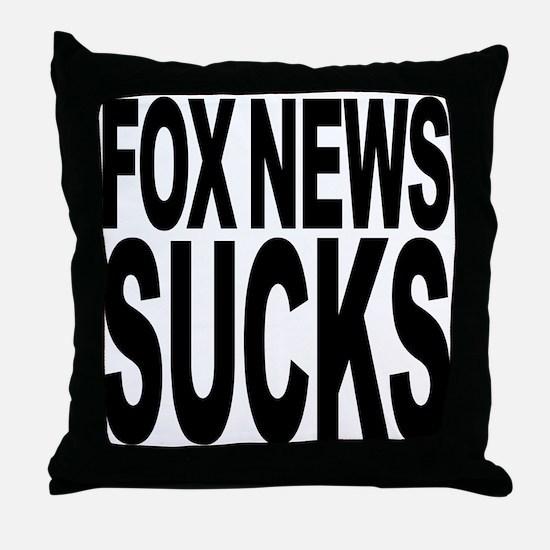 Fox News Sucks Throw Pillow