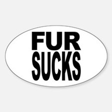 Fur Sucks Oval Decal