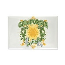 Go Solar California Rectangle Magnet