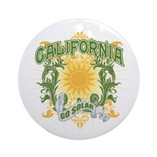 Go Solar California Ornament (Round)