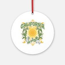 Go Solar California Ornament (Round)