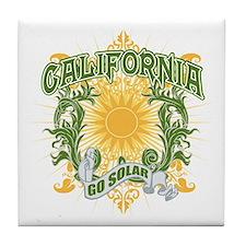 Go Solar California Tile Coaster