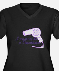 Beautician Women's Plus Size V-Neck Dark T-Shirt