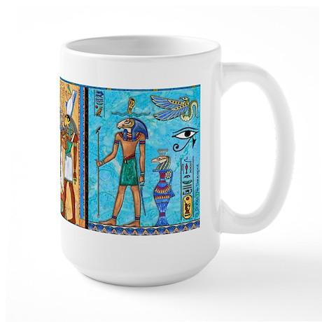 Egyptian Gold/Turquoise Large Mug