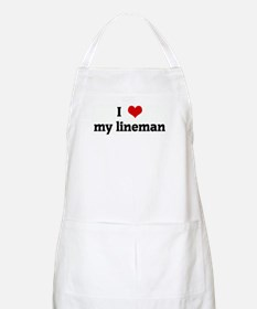 I Love my lineman BBQ Apron