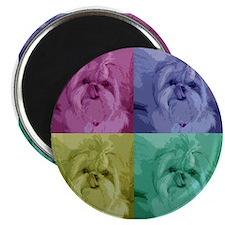 "Shih Tzu Pop Art Missy 2.25"" Magnet (10 pack)"