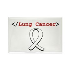 End Lung Cancer Rectangle Magnet