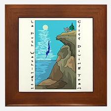 Cliff Diving Team Framed Tile