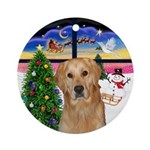 Xmas Window-Golden (K) Ornament (Round)