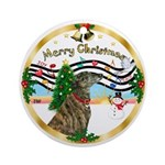 XmasMusic1-Greyhound (br) Ornament (Round)