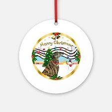 XmasMusic1-Greyhound (br) Ornament (Round)