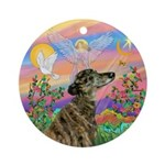 Guardian - Greyhound (br) Ornament (round)