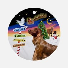 Xsigns-Irishsetter (round) Round Ornament