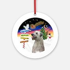 Xsigns-Irish Wolfhound (round) Round Ornament
