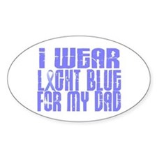 I Wear Light Blue 16 (Dad) Oval Decal