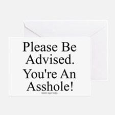 Please Be Advised Greeting Card
