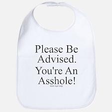 Please Be Advised Bib