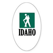 Hike Idaho - Oval Decal