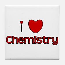 I Love Chemistry Tile Coaster