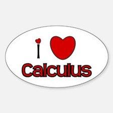 I Love Calculus Oval Decal