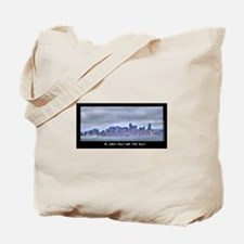 A Grey Day on the Bay Tote Bag