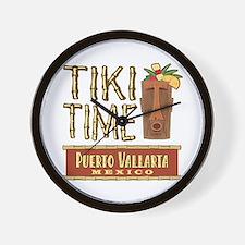 Puerto Vallarta Tiki Time - Wall Clock