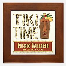 Puerto Vallarta Tiki Time - Framed Tile