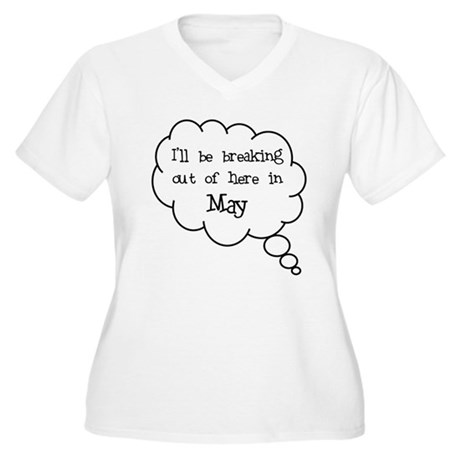 """Breaking Out May"" Women's Plus Size V-Neck T-Shir"