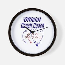 Football Couch Coach Wall Clock