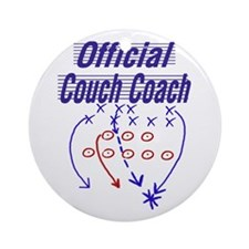 Football Couch Coach Keepsake (Round)