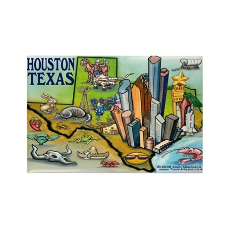 Houston TEXAS Map 11x17 Magnets