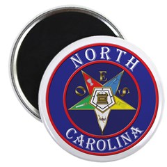 North Carolina OES in a circle Magnet