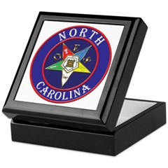 North Carolina OES in a circle Keepsake Box