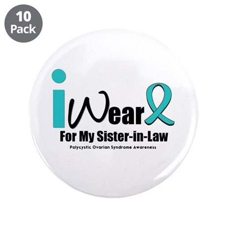 "PCOS Awareness 3.5"" Button (10 pack)"