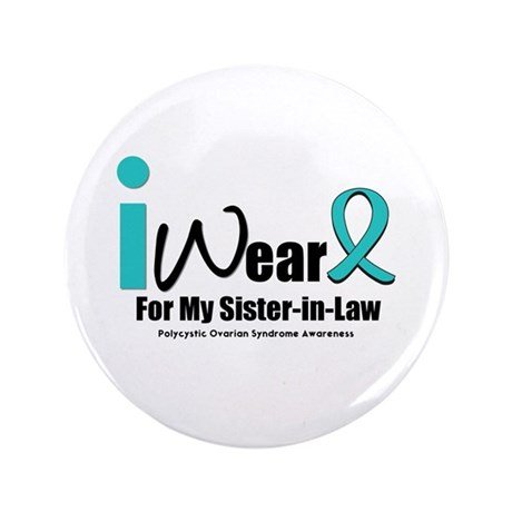 "PCOS Awareness 3.5"" Button"