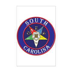South Carolina OES in a circle Posters