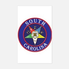 South Carolina OES in a circle Rectangle Decal