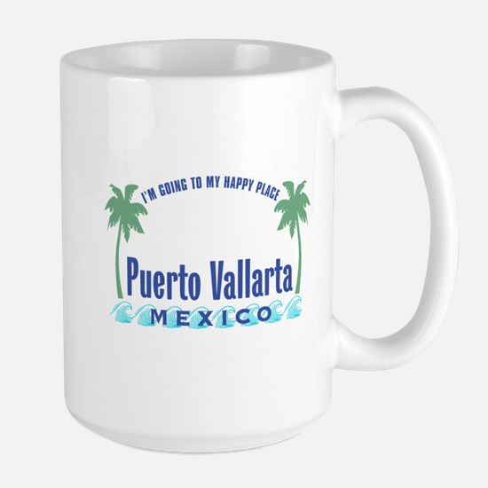 Puerto Vallarta Happy Place - Large Mug