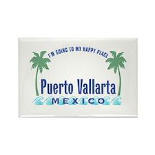 Puerto Vallarta Happy Place - Rectangle Magnet
