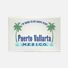 Puerto Vallarta Happy Place - Rectangle Magnet