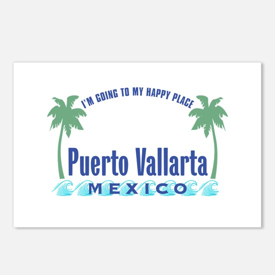 Puerto Vallarta Happy Place - Postcards (Package o