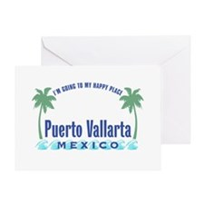 Puerto Vallarta Happy Place - Greeting Card