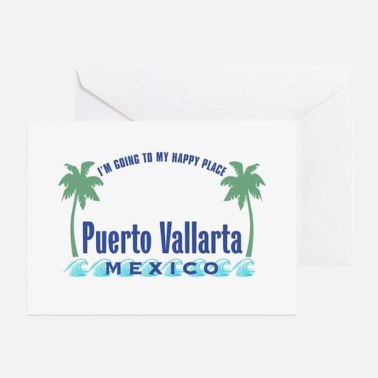 Puerto Vallarta Happy Place - Greeting Card