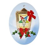 OES Christmas Lantern Keepsake (Oval)